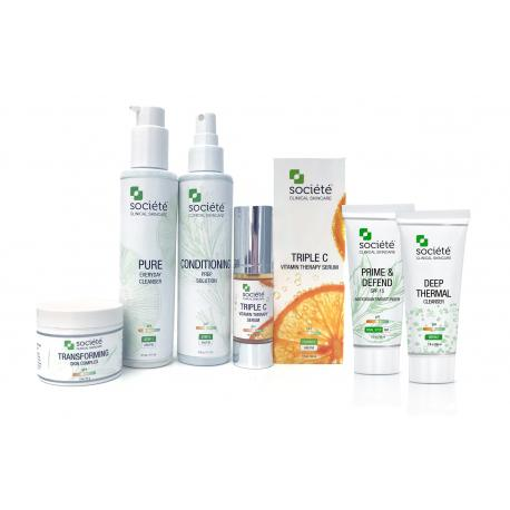 Societe Rosacea/ Hypersensitive Skin- Calming Protocol 6 Pieces FREE SHIPPING