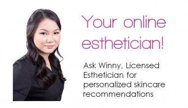 Ask Winny, Masters Certified Esthetician for custom skincare recommendations tailored to YOUR skin
